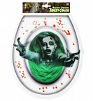 BLOODY ZOMBIE TOILET COVER Decoration Halloween Zombies
